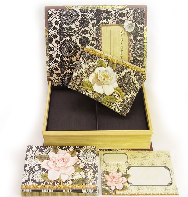 Kaderia rakuten global market punch studiobook type card set a card and 24 sets of envelopes entering box of the book type the prettiness that i want to collect the card is bright by a night print white rose m4hsunfo