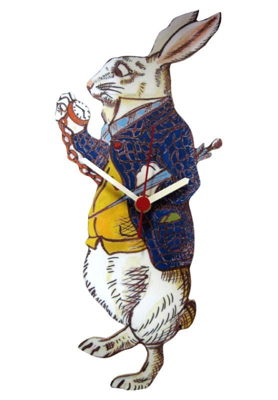 Kaderia Wall Clock Alice In Wonderland White Rabbit Lark