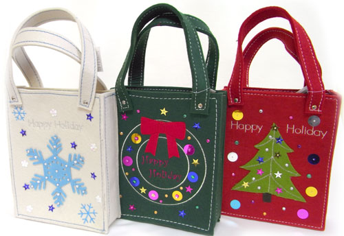 felt tote bag christmasgtslapping article kids bag
