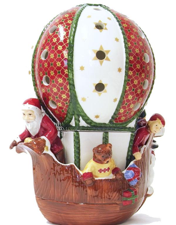 限定品!キャンドルポット クリスマス バルーンクリスマス・デコ・気球[Villeroy & Boch]オブジェ・置物・人形・クリスマス