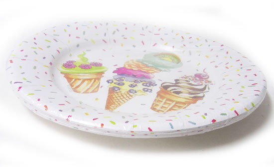Paper plate ? bright dish of refuse Paris Corporation. I color a party happily! I am pretty even if I display it? ?Ice cream party?  sc 1 st  Rakuten & KADERIA | Rakuten Global Market: Paper round shape plate ice cream ...