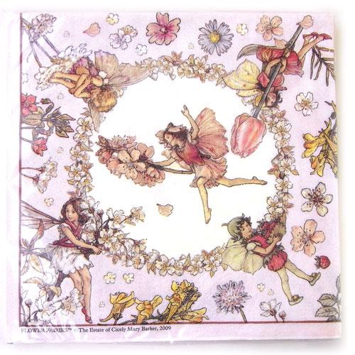 Kaderia napkins made of paper 10 sheets flower fairy pink napkins made of paper 10 sheets flower fairy pink switzerland sisilimarybarker fairies decoupage wrap mightylinksfo