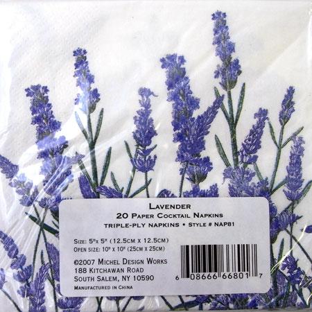 # 5 纸餐巾 []-鸡尾酒-薰衣草 2 Pc [米歇尔] 米歇尔设计作品花卉纸 Navin,纸餐巾剪纸