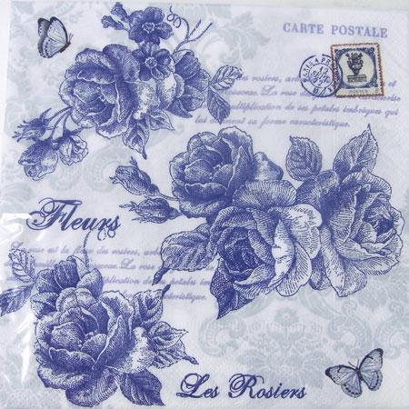 # 2 纸毛巾蓝玫瑰 [意大利 Nuova,papernufkin,纸餐巾剪纸玫瑰,玫瑰,玫瑰,花艺设计