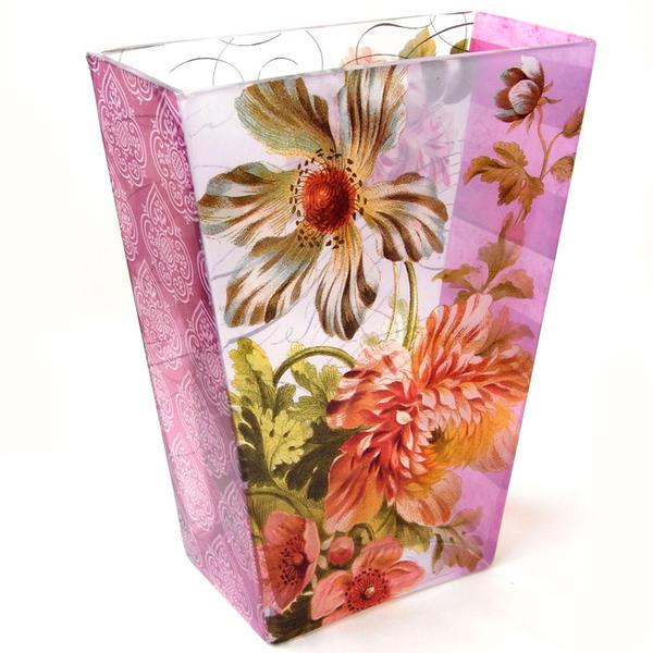 限定品 花瓶 バーガンディーフローラルANGELA[FRINGE STUDIO]花瓶 フラワーベイス 花器花柄
