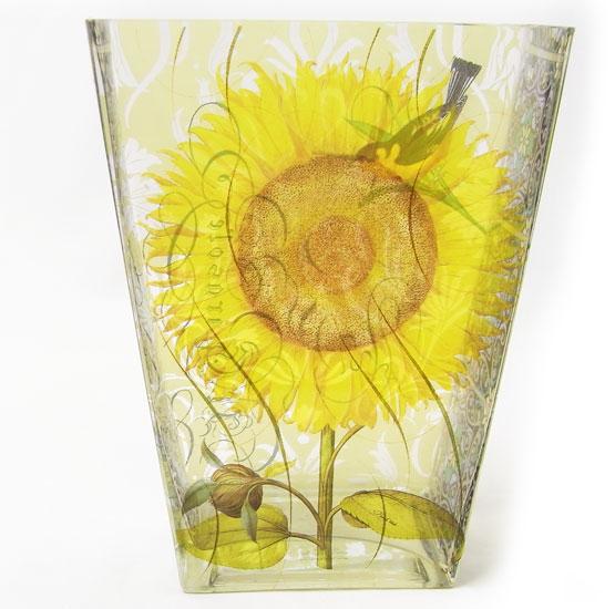 フラワーベイス 花器ヒマワリ・ひまわり・鳥・とり・バード STUDIO]花瓶 サンフラワー[FRINGE SUNFLOWER 花瓶 限定品
