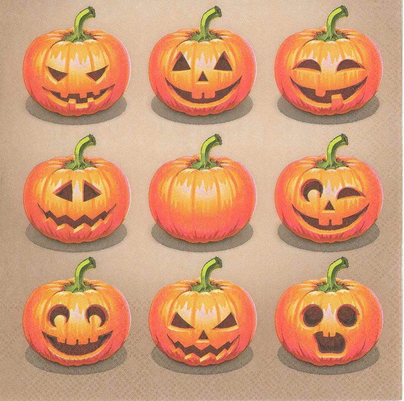 10枚ペーパーナプキン ジャックオーランタン Ambienteアンビエンテ ランチサイズ秋柄 かぼちゃ ハロウィン 定番キャンバス カボチャ ハロウィンパンプキン 至上