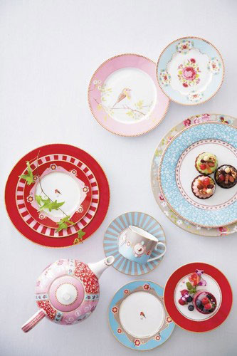 盘子15cm花香粉红[PIP STUDIO]皮普演播室厨房、餐具、茶碗