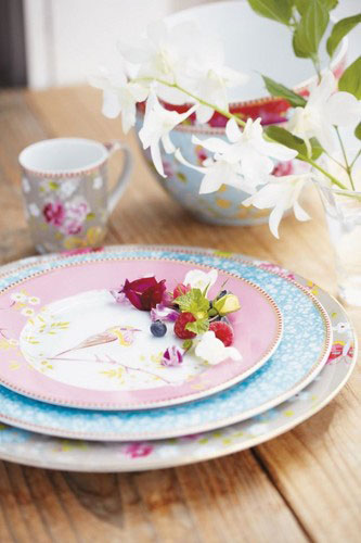 Bowl 15 cm floral pink [STUDIO PIP, PIP Studio kitchen, dishes and bowls