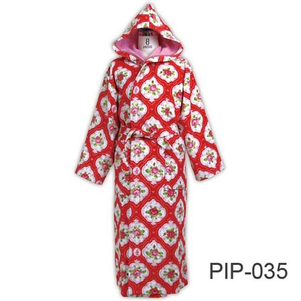 Bathrobe Medallion Red Pip Studio Fl Design Bus Pajamas