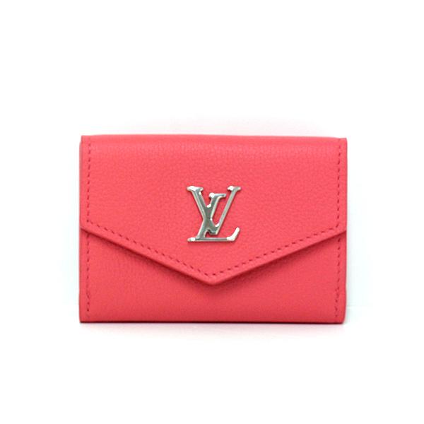 大幅にプライスダウン ルイ ヴィトン Louis Vuitton ポルトフォイユ ロックミニ M69067 ブロッサム シルバー金具 市場 UB1200 カーフレザー 中古 Sランク ピンク 三つ折り財布
