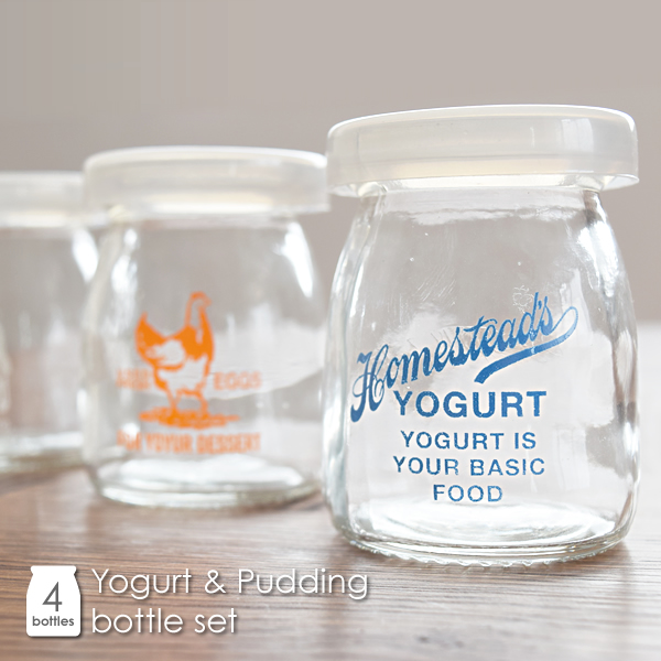kaedesou Rakuten Global Market Glass bottle HOMESTEAD yogurt amp