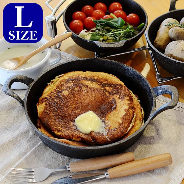 スキレット DULTON ダルトン GLUTTON グラットン Round pan ラウンドパン Lサイズ Skillet フライパン グリルパン アウトドア キャストアイアン 鋳鉄製フライパン ダッチオーブン