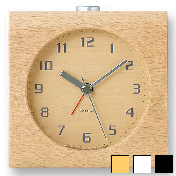 ホワイトブナを丁寧に削りだしたフォルムが印象的 ライト スヌーズ機能付き 目覚し時計 低価格化 アラーム時計 置き時計 置時計 時計 木製 レムノス 連続秒針 テレビで話題 ブロック 北欧 Block Lemnos おしゃれ アラーム スイープムーブメント 卓上 音がしない