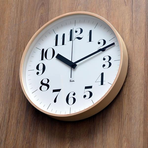 巨匠渡辺力のデザインのレムノス電波掛け時計 電波時計 渡辺力 壁掛け時計 掛時計 時計 デザイン時計 プライウッド 北欧 レムノス Lemnos 掛け時計 リキクロック 音がしない スイープムーブメント 305mm riki RC おしゃれ clock 木製 信用 連続秒針 壁掛け デザイナーズ ウォールクロック 格安