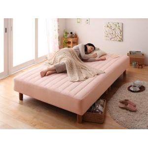 ■4.5倍ポイント■新・色・寝心地が選べる!20色カバーリングボンネルコイルマットレスベッド 脚15cm セミダブル [L][00]