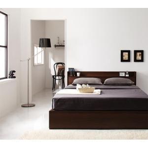 ■5倍ポイント■コンセント付き収納ベッド Ever エヴァー マルチラススーパースプリングマットレス付き ダブル[L][00]