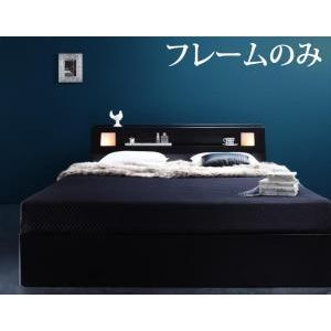 ■5倍ポイント■モダンライト・コンセント付き収納ベッド Farben ファーベン ベッドフレームのみ クイーン(Q×1)[L][00]