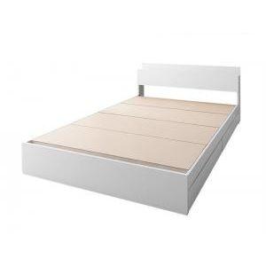 ■5倍ポイント■棚・コンセント付き収納ベッド ma chatte マシェット ベッドフレームのみ セミダブル[L][00]