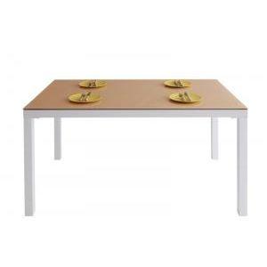 ■4.5倍ポイント■ウッドxガラスダイニング【Saltaire】ソルテア テーブル(W135) 【代引不可】[1D][00]