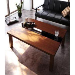 ■7倍ポイント■アーバンモダンデザインこたつテーブル【Brent Wood】ブレントウッド/長方形(105×75)[00]
