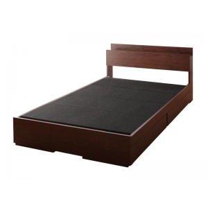 ■5倍ポイント■棚・コンセント付き収納ベッド Arcadia アーケディア ベッドフレームのみ 床板仕様 セミダブル[L][00]