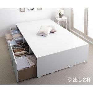 ■4.5倍ポイント■布団で寝られる大容量収納ベッド Semper センペール ベッドフレームのみ 引出し2杯 ハイタイプ シングル[00]