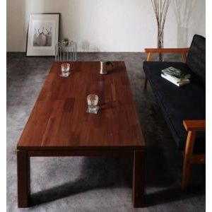 ■5倍ポイント■天然木モザイク調デザイン継脚こたつテーブル Vestrum ウェストルム 4尺長方形(80×120cm)[1D][00]