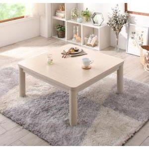 ■5倍ポイント■丸みがやさしいホワイト木目継脚こたつテーブル Snowdrop スノードロップ 正方形(80×80cm)[00]
