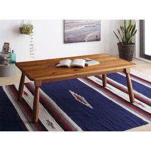 ■7倍ポイント■節ありアカシア材ヴィンテージデザインこたつテーブル Rober ロベル こたつテーブル 長方形(60×105cm)[4D][00]