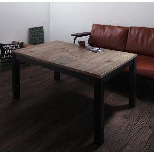 ■5倍ポイント■継脚で高さを四段階 古木風ヴィンテージデザインこたつテーブル Imagiwood イマジウッド 4尺長方形(80×120cm)[00]