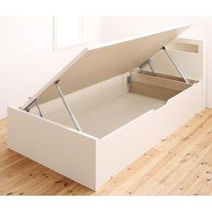 ■5倍ポイント■小さな部屋に合うショート丈収納ベッド Odette オデット ベッドフレームのみ シングル ショート丈 深さラージ[4D][00]