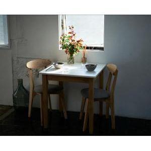 ■5倍ポイント■W68cm スクエアサイズのコンパクトダイニングテーブルセット FAIRBANX フェアバンクス ダイニングテーブル ホワイト×ナチュラル W68[00]