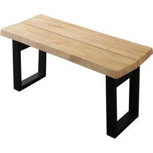■5倍ポイント■天然木無垢材ヴィンテージデザインダイニング NELL ネル ベンチ 2P(単品)[4D][00]