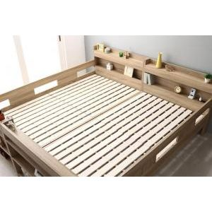 ■5.5倍ポイント■2段ベッドにもなるワイドキングサイズベッド Whentass ウェンタス ベッドフレームのみ フルガード ワイドK200[L][00]