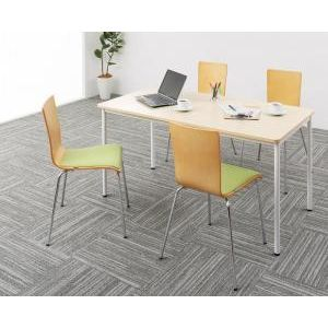■5倍ポイント■多彩な組み合わせに対応できる 多目的オフィスワークテーブルセット CURAT キュレート 5点セット(テーブル+チェア4脚) W140[4D][00]