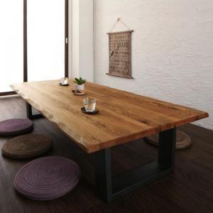 ■4.5倍ポイント■天然木無垢材ワイドサイズ座卓テーブル Amisk アミスク オーク W180[1D][00]