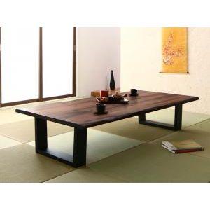 ■4.5倍ポイント■天然木無垢材ワイドサイズ座卓テーブル Amisk アミスク ウォールナット W150[1D][00]