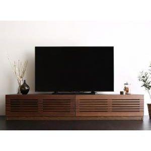 ■5倍ポイント■完成品天然木 ルーバーデザインテレビボード Suare スアレ 幅180cm 奥行33cm[4D][00]