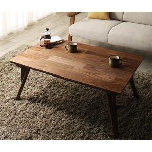 ■4.5倍ポイント■天然木ウォールナット リビングこたつテーブル Chiesa キエーザ 長方形(65×105cm)[1D][00]