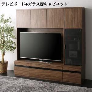 ■5.5倍ポイント■ハイタイプテレビボードシリーズ Glass line グラスライン 2点セット(テレビボード+キャビネット) ガラス扉[L][00]