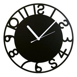 ■4.5倍ポイント■壁掛け時計 鋼の匠 アールデコ 黒【代引不可】 [01]