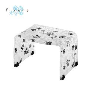 ■10倍ポイント■風呂椅子 バスチェアー Sサイズ フィルロ フラワー ブラック【代引不可】 [01]