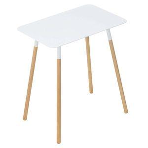 ■10倍ポイント■サイドテーブル プレーン 角型 ホワイト 3507 【代引不可】 [01]