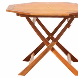 ■5倍ポイント■アジアン カフェ風 テラス 【FLEURシリーズ】八角テーブル 110cm【代引不可】 [03]