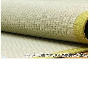 ■5倍ポイント■純国産 い草ラグカーペット 『くまモン すいか』 約200×200cm【代引不可】 [13]