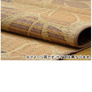 ■4.5倍ポイント■純国産 袋織い草ラグカーペット 『なでしこ』 ベージュ 約191×191cm【代引不可】 [13]