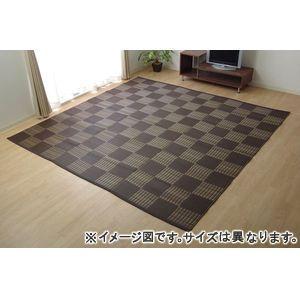 ■4.5倍ポイント■ラグ 洗える PPカーペット 『ウィード』 ブラウン 本間8畳(約382×382cm)【代引不可】 [13]