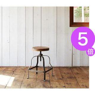 ■5倍ポイント■西海岸テイストヴィンテージデザインダイニング家具シリーズ【Ricordo】リコルド 回転昇降式スツール[1D][00]
