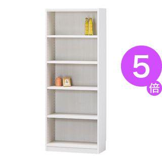 ■5倍ポイント■白井産業 木製棚タナリオ TNL-1559 ホワイト[21]